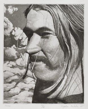 Stephen McMillan (American, born 1949). Peitsa, 1975. Intaglio, aquatint, and soft ground on paper, sheet: 12 1/4 x 9 7/8 in. (31.1 x 25.1 cm). Brooklyn Museum, Gift of ADI Gallery, 77.152.3. © Stephen McMillan