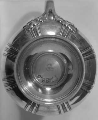 Gustave Keller. Cream Pitcher, ca. 1900. Silver, 5 7/8 x 2 3/8 x 2 3/8 in. (14.9 x 6 x 6 cm). Brooklyn Museum, Gift of Margaret Liebman Berger and Charles J. Liebman, Jr. in memory of Aline and Charles J. Liebman, 77.188.6. Creative Commons-BY