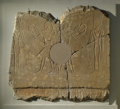 Relief of King Sobekhotep III, ca. 1744-1741 B.C.E. Quartzite, 60 1/2 x 39 x 2 1/2 in., 370 lb. (153.7 x 99.1 x 6.4 cm, 167.83kg). Brooklyn Museum, Charles Edwin Wilbour Fund, 77.194a-c. Creative Commons-BY
