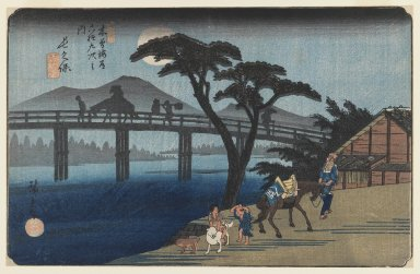 Brooklyn Museum: Nagakubo, no. 28, from the series Kisokaido rokuju tsugi (the