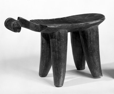 Bwa. Four Legged Stool, Female, late 19th-early 20th century. Wood, 9 1/4 x 5 3/4 x 15in. (23.5 x 14.6 x 38.1cm). Brooklyn Museum, Gift of Mr. and Mrs. Joseph Gerofsky to the Jennie Simpson Educational Collection of African Art, 77.244.2. Creative Commons-BY