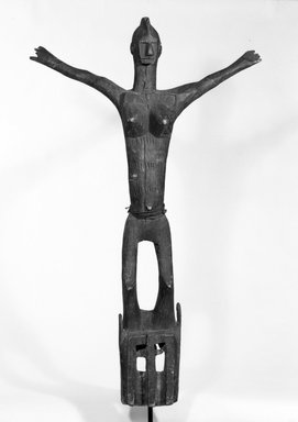Dogon. Satimbe Mask, late 19th or early 20th century. Wood, fiber, 44 in. (112.8 cm). Brooklyn Museum, Gift of Mr. and Mrs. Milton F. Rosenthal, 77.246.1. Creative Commons-BY
