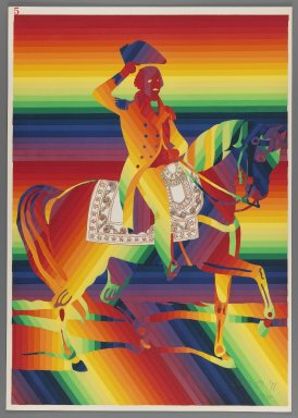 Ay-O (Japanese, born 1931). General Washington on White Charger (Jack), 1971. Color serigraph, Sheet: 20 7/8 x 14 3/4 in. (53 x 37.5 cm). Brooklyn Museum, Gift of Mr. and Mrs. Robert L. Poster, 77.279.5. © Ay-O