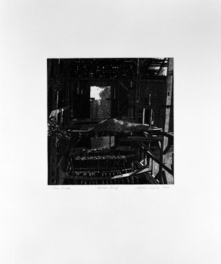 Martin Levine (American, born 1945). The Barn, 1974. Intaglio on paper, sheet: 22 x 18 1/2 in. (55.9 x 47 cm). Brooklyn Museum, Gift of ADI Gallery, 77.62.5. © Martin Levine