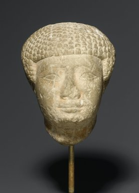 Head in Short Wig, ca. 1938-1875 B.C.E. Limestone, 4 1/2 x 3 x 3 1/2 in. (11.4 x 7.6 x 8.9 cm). Brooklyn Museum, Charles Edwin Wilbour Fund, 77.6. Creative Commons-BY