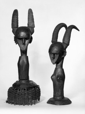 Possibly Marka. Dance Headdress (Ci-wara), late 19th-early 20th century. Wood, 19 3/4 x 6 3/4 x 8 3/4 in. (50.2 x 17.1 x 22.2 cm). Brooklyn Museum, Gift of Elliot Picket, 77.82.2. Creative Commons-BY