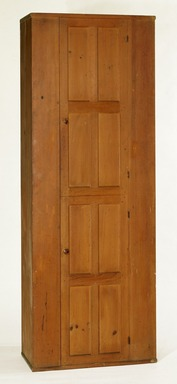 Shaker Community. Cupboard, 1830-1870. Stained pine, 83 1/2 x 30 x 15 3/4 in. (212.1 x 76.2 x 40 cm). Brooklyn Museum, Gift of Mrs. Oscar Bernstien, 77.84.1. Creative Commons-BY