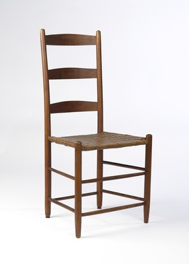 Shaker Community. Chair, 1830-1870. Pine, 36 7/8 x 18 x 14 in. (93.7 x 45.7 x 35.6 cm). Brooklyn Museum, Gift of Mrs. Oscar Bernstien, 77.84.2. Creative Commons-BY