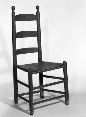 Shaker Community. Chair, 1830-1870. Pine, 37 x 17 1/2 x 13 1/2 in. (94 x 44.5 x 34.3 cm). Brooklyn Museum, Gift of Mrs. Oscar Bernstien, 77.84.3. Creative Commons-BY