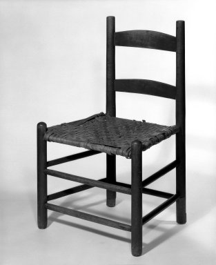 Shaker Community. Side Chair, ca. 1830-1870. Pine, 30 3/8 x 18 3/4 x 14 1/2 in. (77.2 x 47.6 x 36.8 cm). Brooklyn Museum, Gift of Mrs. Oscar Bernstien, 77.84.4. Creative Commons-BY