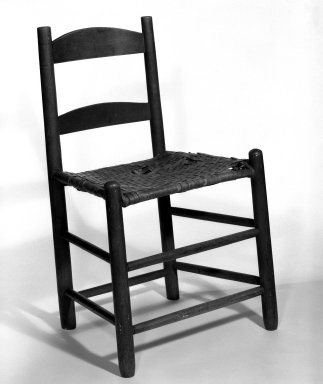 Shaker Community. Side Chair, ca. 1830-1870. Pine, 30 x 19 x 14 in. (76.2 x 48.3 x 35.6 cm). Brooklyn Museum, Gift of Mrs. Oscar Bernstien, 77.84.5. Creative Commons-BY