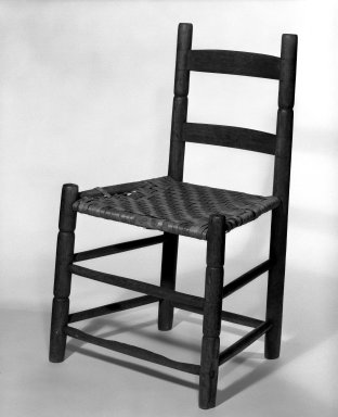 Shaker Community. Side Chair, ca. 1830-1870. Pine, 30 3/4 x 19 x 14 1/4 in. (78.1 x 48.3 x 36.2 cm). Brooklyn Museum, Gift of Mrs. Oscar Bernstien, 77.84.6. Creative Commons-BY