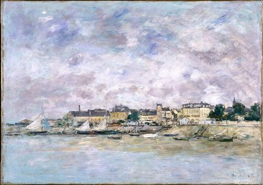 Eugène Louis Boudin (French, 1824-1898). The Port, Trouville (Trouville, Le Port), 1886. Oil on canvas, 18 x 25 5/8 in. (45.7 x 65.1 cm). Brooklyn Museum, Gift of Mr. and Mrs. Robert E. Blum, 77.99