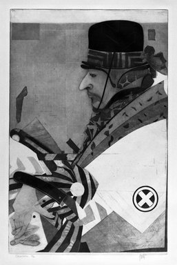 Leonardo Lasansky (American, born 1946). Orientalia, 1976. Intaglio in color, Sheet: 30 5/8 x 20 1/2 in. (77.8 x 52 cm). Brooklyn Museum, Designated Purchase Fund, 78.114.5. © Leonardo Lasansky