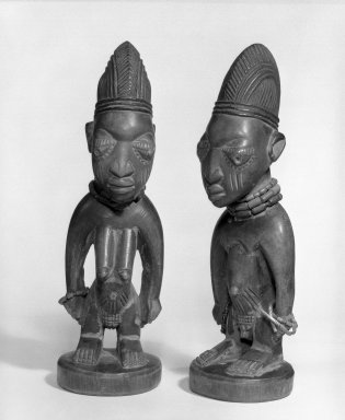 Yoruba. Standing Female Figure (Ere Ibeji), late 19th or early 20th century. Wood, beads, metal, pigment, 11 x 3 1/4 x 3 1/2 in. Brooklyn Museum, Gift of Mr. and Mrs. Paul B. Taylor, 78.118.2. Creative Commons-BY