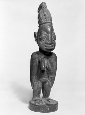 Yoruba. Standing Female Figure (Ere Ibeji), late 19th or early 20th century. Wood, pigment, 11 x 3 x 3 1/4 in. Brooklyn Museum, Gift of Mr. and Mrs. Paul B. Taylor, 78.118.3. Creative Commons-BY