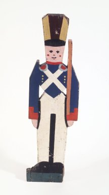 Toy Soldier, ca. 1927. Painted wood, 31 5/8 x 9 x 1 5/8 in.  (80.3 x 22.9 x 4.1 cm). Brooklyn Museum, Gift of John Worthington, 78.130. Creative Commons-BY