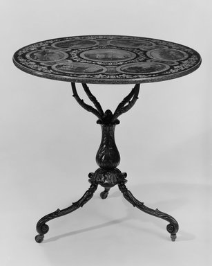 Table, ca. 1840-1855. Cast iron, wood, and painted decoration, 28 3/8 x 28 3/8 x 28 3/8 in. (72.1 x 72.1 x 72.1 cm). Brooklyn Museum, H. Randolph Lever Fund, 78.131. Creative Commons-BY