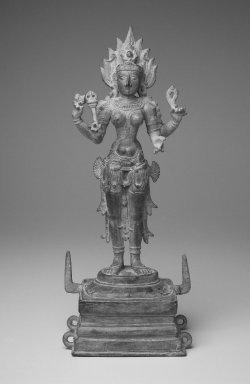 Standing Kali, 12th century. Bronze, 14 1/2 x 5 in. (36.8 x 12.7 cm). Brooklyn Museum, Gift of Richard A. Benedek, 78.137. Creative Commons-BY