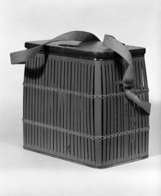 Creel, ca. 1930. Bamboo, brass, wood, lid: 7/16 x 5 9/16 x 9 5/16 in. (1.1 x 14.2 x 23.6 cm). Brooklyn Museum, Gift of Mr. and Mrs. Harry Kahn, 78.143.1. Creative Commons-BY
