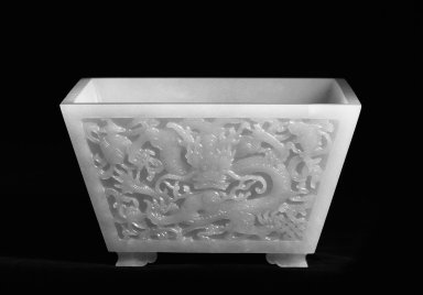 Bowl, 18th century. White nephrite, 2 7/8 x 4 15/16 x 4 15/16 in. (7.3 x 12.5 x 12.5 cm). Brooklyn Museum, Bequest of Helen Babbott Sanders, 78.146.1. Creative Commons-BY