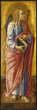 Carlo Crivelli (Italian, Venetian, Schools of the Venice and the Marches, 1430-1495). Saint James Major, part of an altarpiece, 1472. Tempera and tooled gold on panel, 38 1/4 x 12 5/8 in. (97.2 x 32.1 cm). Brooklyn Museum, Bequest of Helen Babbott Sanders, 78.151.10