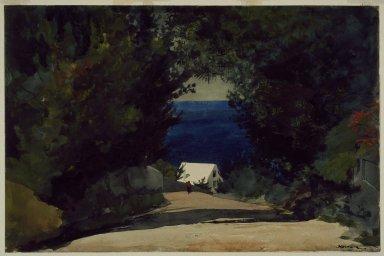 Winslow Homer (American, 1836-1910). Road in Bermuda, ca. 1899-1901. Watercolor on paper Brooklyn Museum, Gift of the Estate of Helen Babbott Sanders, 78.151.3
