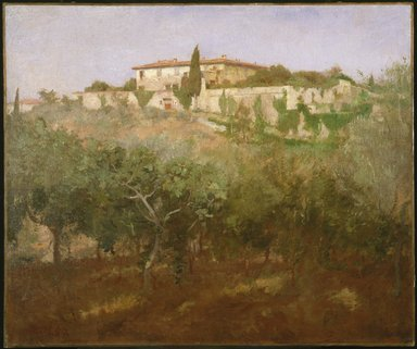 Frank Duveneck (American, 1848-1919). Villa Castellani, 1887. Oil on canvas, 24 15/16 x 30 in. (63.4 x 76.2 cm). Brooklyn Museum, Healy Purchase Fund B, 78.176
