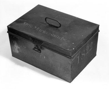 American. Box with Hinged Lid, 1822. Metal, H: 8 1/4 in. (21 cm). Brooklyn Museum, Gift of Thomas M. Forsyth, Jr., 78.186. Creative Commons-BY
