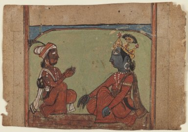 Miniature Painting, c. Early 17th Century. Opaque watercolors on paper, 3 1/2 x 5 1/8 in. (8.9 x 13 cm). Brooklyn Museum, Gift of Temple Art, Inc, 78.207