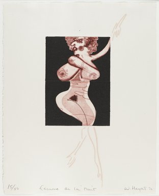 William Heydt (American, born 1949). Femme de La Nuit, 1976. Etching and drypoint, Image/Sheet: 13 7/8 x 11 1/8 in. (35.2 x 28.3 cm). Brooklyn Museum, Designated Purchase Fund, 78.232.1e. © William Heydt