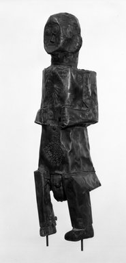 Kota. Standing Reliquary Guardian Figure, late 19th-early 20th century. Wood, copper alloy, 13 5/8 x 3 3/4 x 3 in. (34.6 x 9.5 x 7.5 cm). Brooklyn Museum, Gift of Mr. and Mrs. John Friede, 78.239.2. Creative Commons-BY
