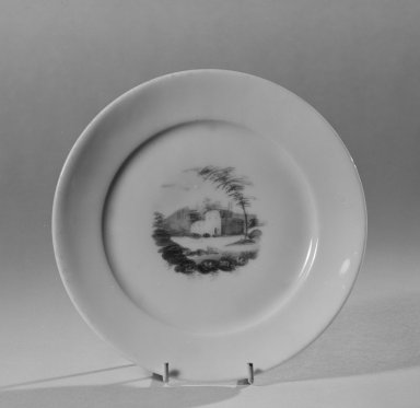 Possibly William Ellis Tucker (American). Plate, 1820-1830. Porcelain, Diam.: 6 1/4 in. (15.9 cm). Brooklyn Museum, Gift of Allison C. Paulsen in memory of Arthur W. Clement, 78.242.31. Creative Commons-BY