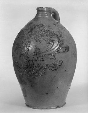Daniel Goodale. Jug, 1818-1830. Stoneware, 11 3/4 x 7 5/8 x 8 in. (29.8 x 19.4 x 20.3 cm). Brooklyn Museum, Gift of Allison C. Paulsen in memory of Arthur W. Clement, 78.242.32. Creative Commons-BY