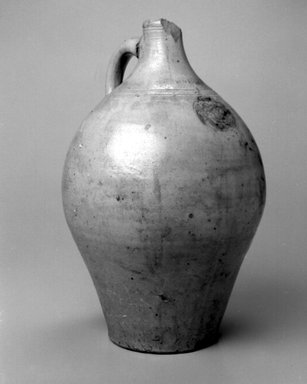 Jonathan Fenton. Jug, 1793-1796. Stoneware, 15 1/8 x 10 x 10 in. (38.4 x 25.4 x 25.4 cm). Brooklyn Museum, Gift of Allison C. Paulsen in memory of Arthur W. Clement, 78.242.33. Creative Commons-BY