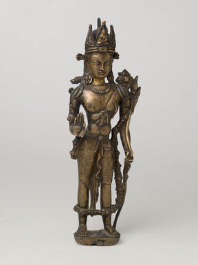 Bodhisattva Padmapani, 11th-12th century. Bronze, 11 1/4 x 3 9/16 x 2 3/8 in. (28.5 x 9 x 6 cm). Brooklyn Museum, Gift of Mr. and Mrs. John Kossak, 78.256.4. Creative Commons-BY