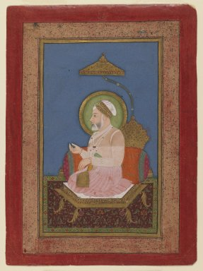 Sukha Luhar. Emperor Alamgir II, ca. 1756. Opaque watercolor on paper, sheet: 7 3/16 x 5 1/4 in.  (18.3 x 13.3 cm). Brooklyn Museum, Anonymous gift, 78.256.5
