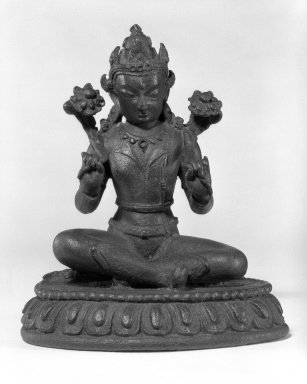 The Sun God Surya, 13th-14th century. Bronze, 5 1/4 x 4 1/2 in.  (13.3 x 11.4 cm). Brooklyn Museum, Gift of Mr. and Mrs. John Kossak, 78.256.6. Creative Commons-BY