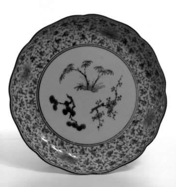 Dishes, Set of 5 Arita, 18th century. porcelain with glaze, Each: 1 1/4 x 7 11/16 in. (3.2 x 19.5 cm). Brooklyn Museum, Gift of Dr. and Mrs. George Liberman, 78.257.4a-e. Creative Commons-BY
