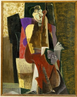 Max Weber (American, born Russia, 1881-1961). The Cellist, 1917. Oil on canvas, 16 1/8 x 20 1/8in. (41 x 51.1cm). Brooklyn Museum, Gift of Mrs. Edward Rosenberg, 78.267