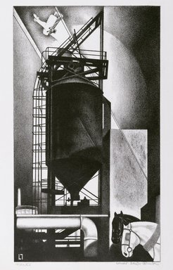 Louis Lozowick (American, born Russia, 1892-1973). Tanks (No. 1), 1929. Lithograph on wove paper, Sheet: 15 13/16 x 11 3/16 in. (40.2 x 28.4 cm). Brooklyn Museum, Bequest of Samuel Zachary Gitlin, 78.54.7. © Estate of Louis Lozowick