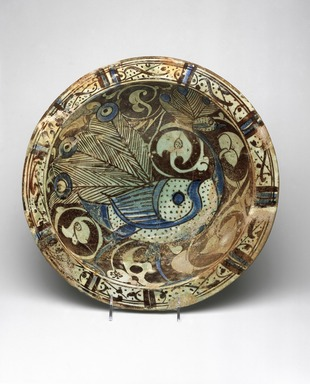 Brooklyn Museum: Bowl with Peacock Motif
