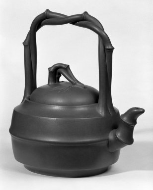 "Teapot, ca. 1950. ""Purple clay"" (zisha) earthenware., 8 5/8 x 8 1/2 in. (21.9 x 21.6 cm). Brooklyn Museum, Gift of Robert H. Ellsworth, 78.84.1. Creative Commons-BY"