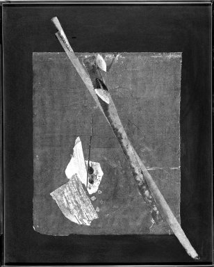 Uchima Toshiko (Japanese). In Matsue, 1977. Paper, Cloth, Bamboo Sheath, Leaf, Butterfly Wing, Bits of Lead, Image: 24 7/8 x 19 7/8 in. (63.2 x 50.5 cm). Brooklyn Museum, Designated Purchase Fund, 78.8. © Estate of Toshiko Uchima