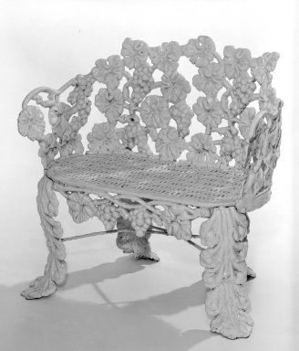 American. Settee, ca. 1850. Cast iron, 29 1/2 x 30 x 13 1/4 in. (74.9 x 76.2 x 33.7 cm). Brooklyn Museum, Gift of Mrs. James A. Cole, 79.10.2. Creative Commons-BY