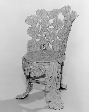 American. Side Chair, ca. 1850. Cast iron, painted, 28 1/2 x 18 1/4 x 13 in. (72.4 x 46.4 x 33 cm). Brooklyn Museum, Gift of Mrs. James Cole, 79.10.3. Creative Commons-BY