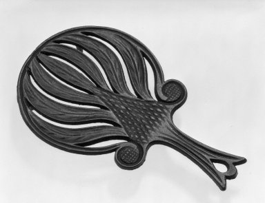 American. Trivet, ca. 1850. Cast iron, black., 5 1/2 x 9 in. (14 x 22.9 cm). Brooklyn Museum, Gift of Mrs. James Cole, 79.10.6. Creative Commons-BY