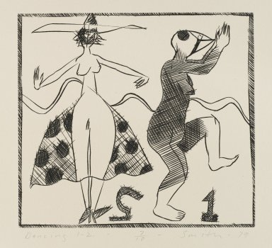 Scott Smith (American, born 1951). Dancing 1-2, 1979. Engraving on plexiglass, sheet: 11 1/4 x 11 7/8 in.  (28.6 x 30.2 cm);. Brooklyn Museum, Designated Purchase Fund, 79.113.4. © Scott Smith