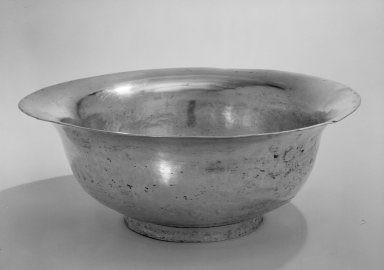 Bowl, 19th century. Silver, 321 x 13 1/2 x 5 3/4 in. (815.3 x 34.3 x 14.6 cm). Brooklyn Museum, Gift of Mrs. Harold J. Roig in memory of Harold J. Roig, 79.123.1. Creative Commons-BY