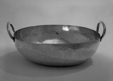 Bowl, 20 th century. Silver, 3 1/2 x 5 x 10 7/8 in. (8.9 x 12.7 x 27.6 cm). Brooklyn Museum, Gift of Mrs. Harold J. Roig in memory of Harold J. Roig, 79.123.2. Creative Commons-BY